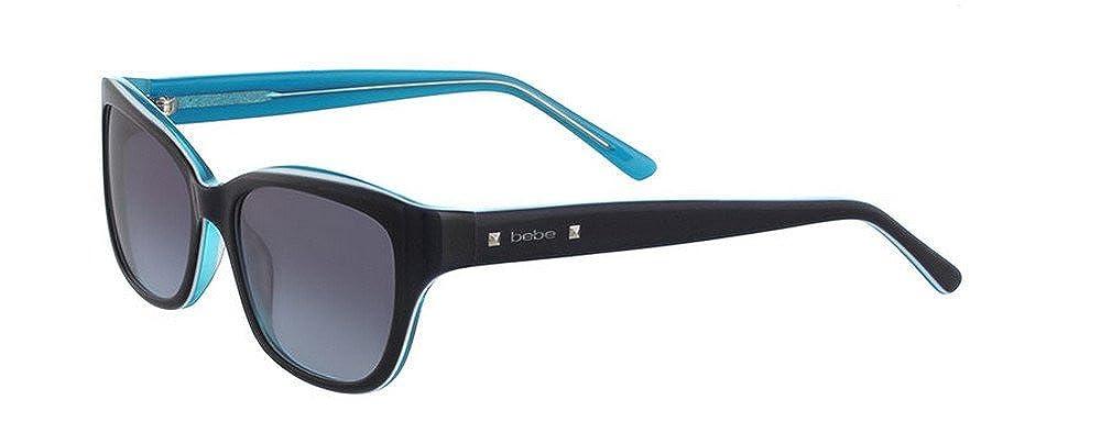 BEBE Sunglasses BB7161 414 Navy 53MM at Amazon Mens ...