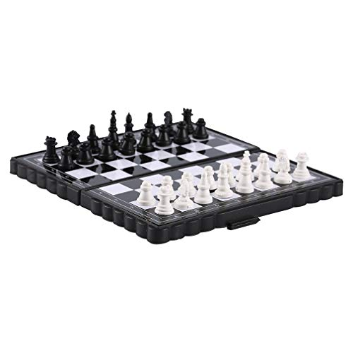 Kinshops 1 Set Mini Magnetic Plastic Folding Chess Board Chess Board Game Portable Toy For Children Folded Magnetic…
