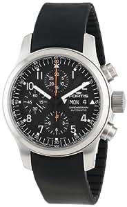 Fortis Men's 635.10.11 K B-42 Pilot Professional Automatic Chronograph Date Black Rubber Watch