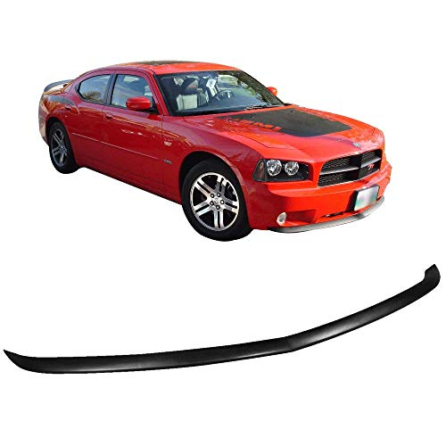 Front Bumper Lip Fits 2005-2010 Dodge Charger | Factory Style Black PU by IKON MOTORSPORTS