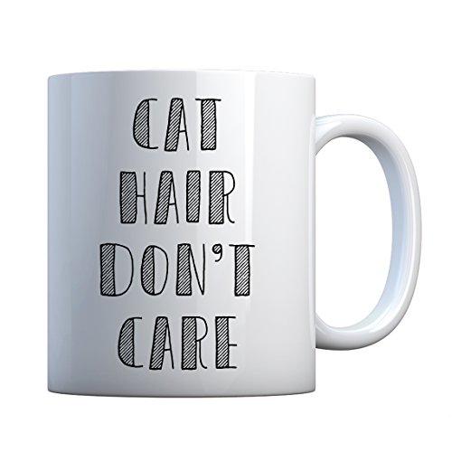 Mug Cat Hair Don't Care Large Pearl White Gift - Hair Mug