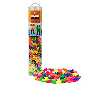 PLUS PLUS – Open Play Tube – 240 Piece Neon Color Mix – Construction Building Stem | Steam Toy, Interlocking Mini Puzzle Blocks for Kids
