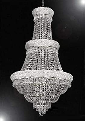 "French Empire Crystal Chandelier Lighting H50"" X W30"" Good for Foyer, Entryway, Family Room, Living Room and More!"