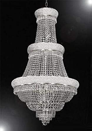 French Empire Crystal Chandelier Lighting H50 X W30 Good for Foyer, Entryway, Family Room, Living Room and More
