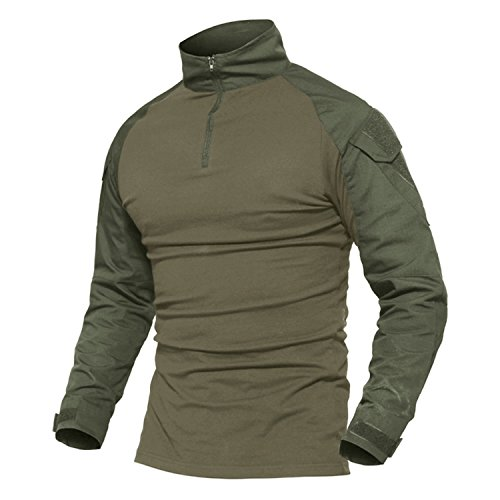MAGCOMSEN Tactical Airsoft Combat Slim Fit Shirt Long Sleeve With Zipper