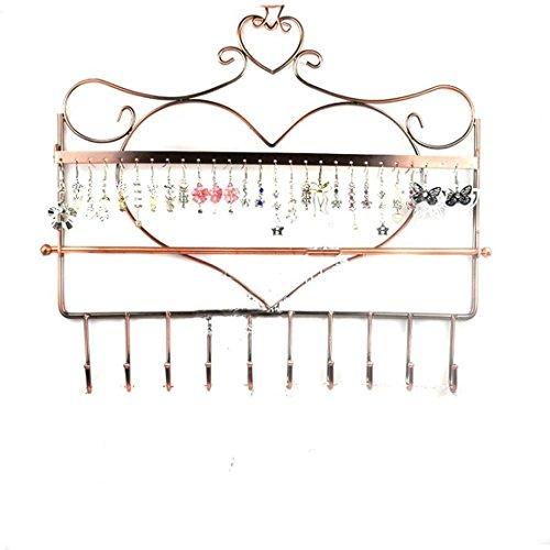etruke Bronze zum Aufhängen Wandhalterung Ohrring Halter Halskette Schmuckset Display Ständer Rack