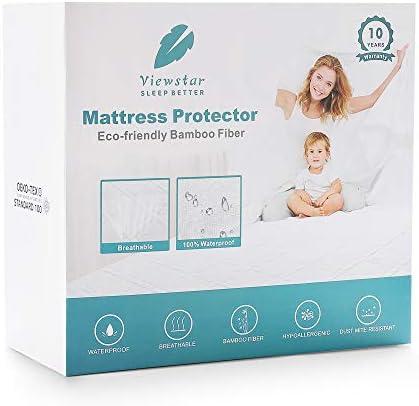 ViewStar Imperméable matelas Protector King Size Bambou Housse de Matelas refroidissement