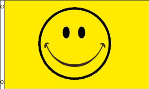 Happy Face (Yellow) Flag 3x5ft Poly]()