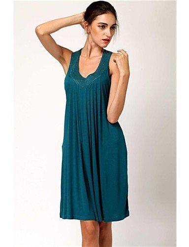 skt-swimwear Damen zudecken, massiv Baumwollgemisch blau