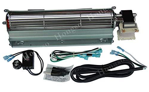 - Hongso 17Y-New BK GA3650 GA3650B GA3700 GA3700A GA3750 GA3750A Replacement Fireplace Blower Fan KIT for Desa, FMI, Vanguard, Vexar, Comfort Flame Glow