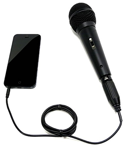 Sound Professionals - Professional Omnidirectional handheld high output condenser microphone for iPhone, Smartphones and comptuers with 4 pole conenctors - Made in USA