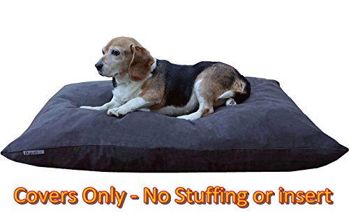 Do It Yourself DIY Pet Bed Pillow Duvet Suede Cover + Waterproof Internal case for Dog/Cat at Medium 36''X29'' Espresso Color - Covers only by Dogbed4less (Image #6)