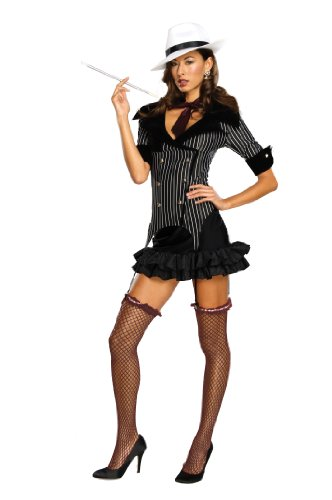 Secret Wishes  Gangster Doll Costume, Black, Medium