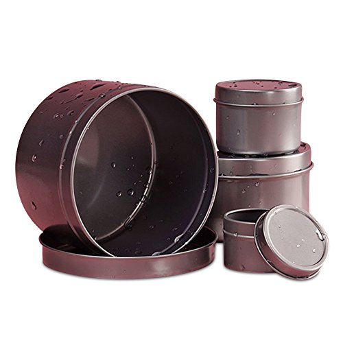 1 Oz Rust Resistant Deep Round Steel Tin Can | Quantity: 720
