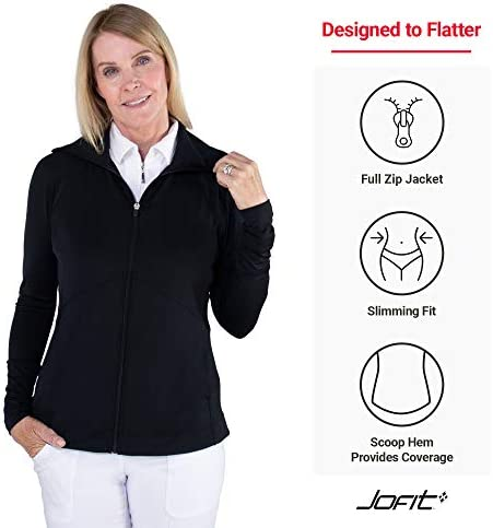 Jofit Apparel Women's Athletic Clothing Lightweight Jacket for Golf & Tennis