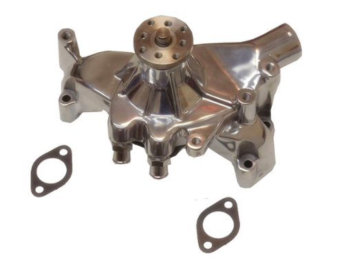 Polished Aluminum High Volume Long Water Pump For Big Block Chevy BBC (Aluminum Pulley Chevy)