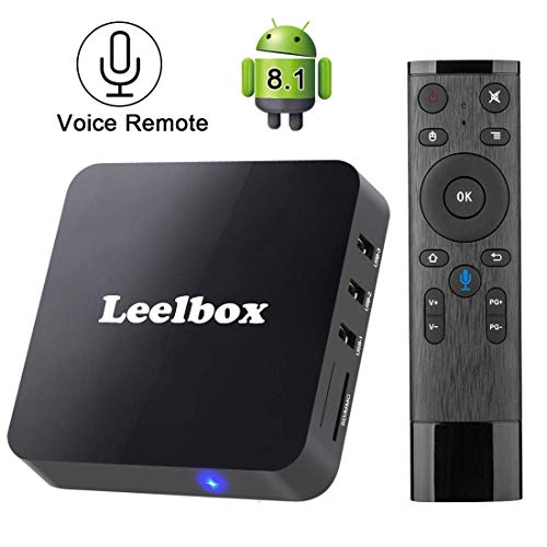 TV Box Android 8.1 Leelbox Smart Android TV Box with Voice Remote Control,...
