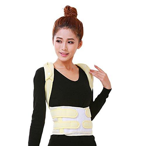 JZLV Adjustable Therapy Back Support Braces Belt Band Posture Shoulder Corrector for Fashion Health , l by JZL (Image #1)