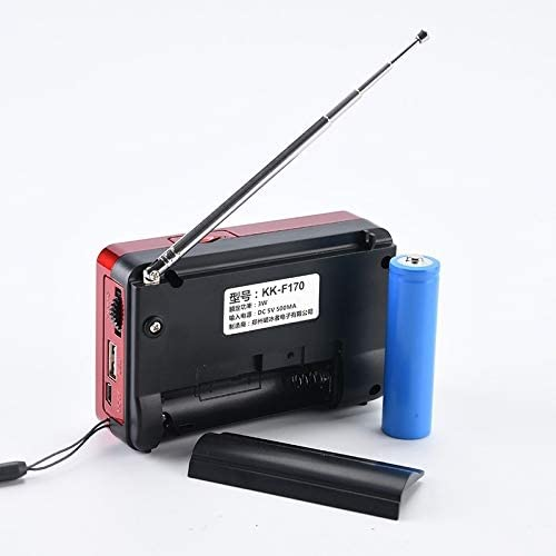 Wangxirou-us Portable 21 Bands FM//AM//SW Radio Rechargeable Radio Receiver Speaker MP3 Music Player Support USB//TF Card