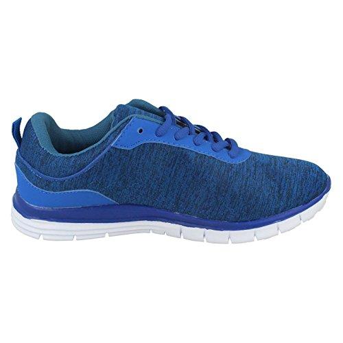 Mens AirTech Lace Up Sports Trainers Profile Blue jGNuUeKI