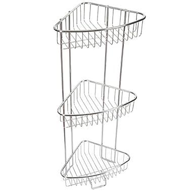 Shower Floor Caddy - Stainless Steel - Rust Free Guarantee - 3 Tier