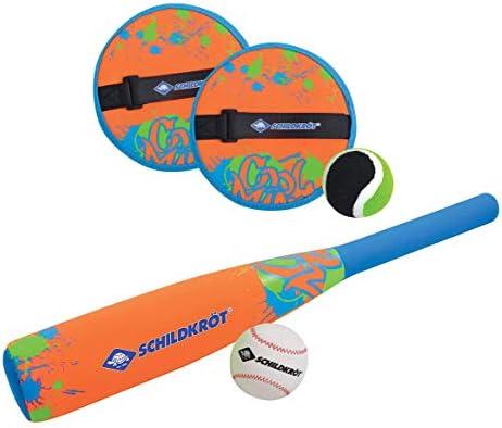 Schildkröt Neopren Baseball Set, 1 weicher Baseballschläger mit Neoprenüberzug, 1 Ball, für Kinder und Familie, verschiedene Farben wählbar