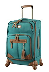 Steven Madden Luggage Soft Side Luggage delivers great durability together with a fashionable design. It is made from polyester fabric to provide your belongs with maximized protection. The use of 360 degree spinner wheels and telescopic push...