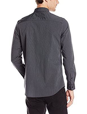 Calvin Klein Men's Stripe Long-Sleeve Button Down Shirt