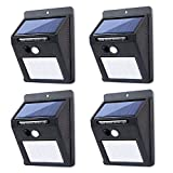 Cheap Aikars Solar Lights Outdoor,Surper Bright Sensor Motion Light,Security Step Lights Waterproof for Walkway,Driveway,Back Yard,Garden – 4 Pack