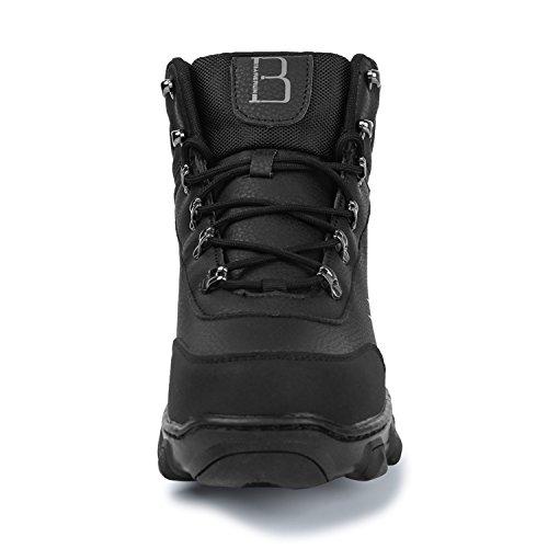 Mens Boots Gomma Senza per Snow RUN Stivaletti Fodera Uomo Nero Winter Pelliccia in Pelliccia alla Caviglia L in qxwHEUIU