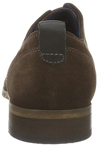 Sioux Emre, Zapatos de Cordones Derby para Hombre Marrón - marrón oscuro