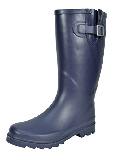 Winter Snow arctiv8 Women's matte Rubber Rainboots High Knee Navy 1w1UInqX