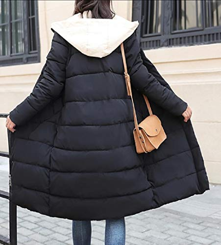 Zipper Black Jacket Overcoat Warm TTYLLMAO Winter Thicken Fashion Down Long Women qpnSw4x0