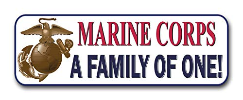 Military Vet Shop Magnet Marine Corps A Family of One Car Bumper Magnet Sticker Magnetic Vinyl Decal 3.8