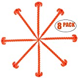 SL-Fashion Tent Screws Pegs Camping Stakes Heavy Duty for Beach, 8 Pack 10 inch