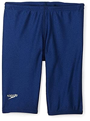 Speedo Big Boys' PowerFLEX Eco Solid Jammer Swimsuit