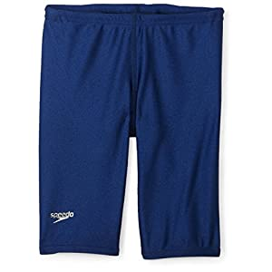 Speedo Big Boys' PowerFLEX Eco Solid Jammer Swimsuit