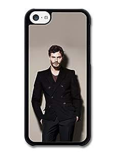 MMZ DIY PHONE CASEAMAF ? Accessories Christian Grey Jamie Dornan Posing Black Coat case for iphone 4/4s