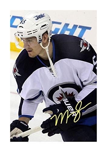 Engravia Digital Mark Sheifele - Winnipeg Jets NHL Reproduction Signature Poster Photo A4 Print(Unframed) - Jets Winnipeg Signed