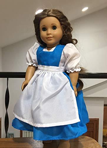 Princess Belle Dress Town Girl Fits 18