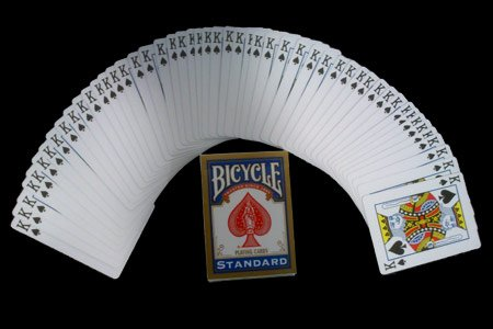 Red Back Bicycle Playing Card Force Deck (Spades, - Tricks Jokes Magic