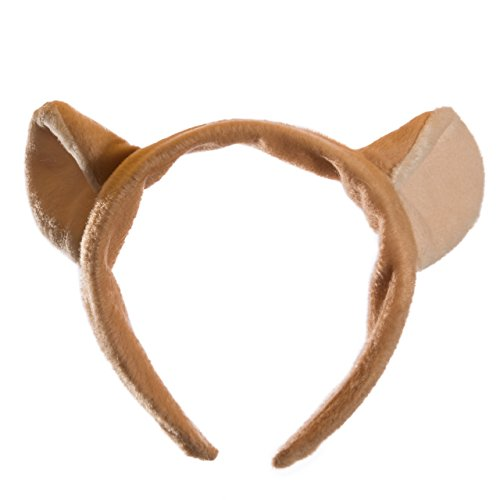 Wildlife Tree Plush Mountain Lion Ears Headband Accessory for Cougar Costume, Cosplay, Pretend Animal Play Safari Party Costumes by Wildlife Tree