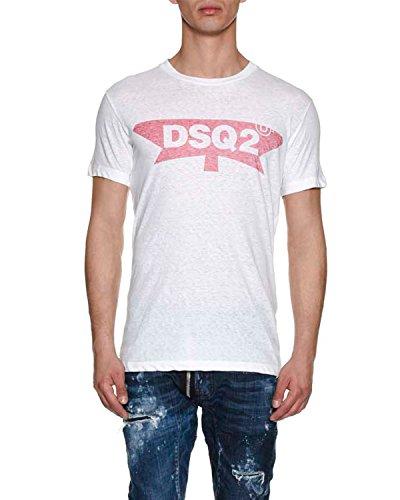 Dsquared2 Herren S71GD0596S22507100 Weiss Baumwolle T-Shirt