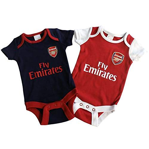 Arsenal FC - Authentic Cute Baby Body Suits 2 Pack (0-3 ()
