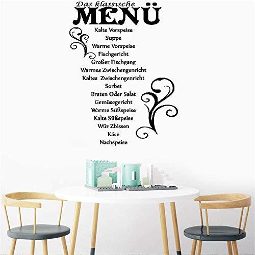 Vinyl Wall Decals Quotes Sayings Words Art Decor Lettering Vinyl Wall Art German Quotes Das Klassische Menü Kalte Vorspeise Suppe for Kitchen -