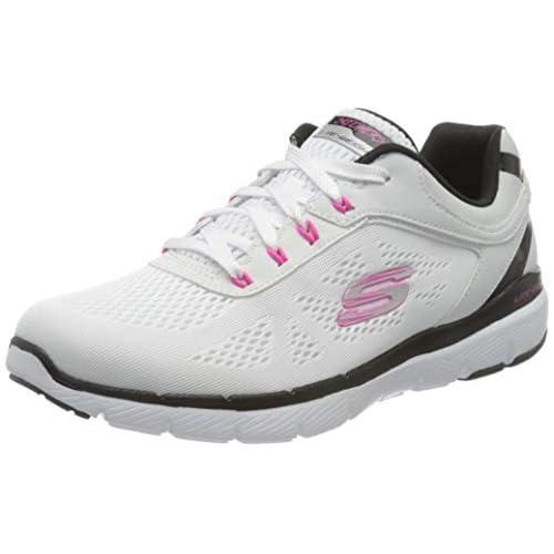 chollos oferta descuentos barato Skechers Flex Appeal 3 0 Quick Voyage Zapatillas sin Cordones para Mujer Multicolor Blanco Azul Hot Pink Wbhp 40 EU