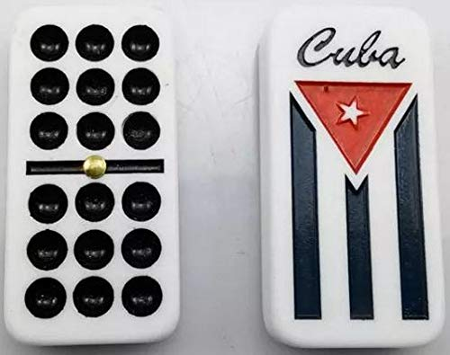Mi Sabor a Colombia - Cuban Flag Double Nines Dominoes Set Wooden Box
