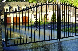 - Mighty Mule Driveway Gate - Double Gate, St. Augustine, 12ft.W x 6ft.H, Model# G2512-KIT by Mighty Mule