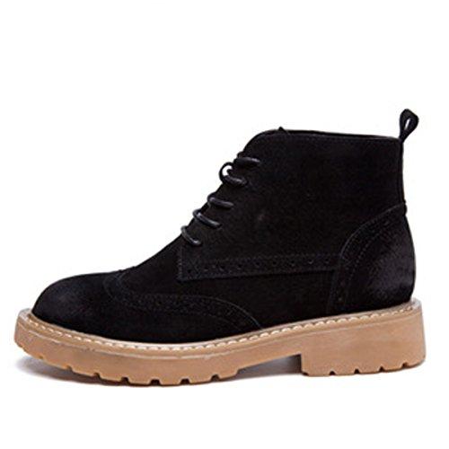 Große Stiefel Retro Größe WJNKK 35 Schuhe Flache Damen Freizeit Frauen 40 Stiefeletten Martin Neue Modische xqfpAF