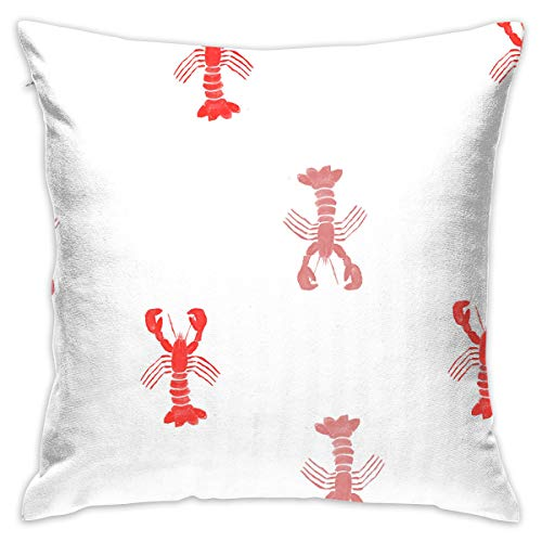 - Reteone Cute Lobster Seamless Graphics Pillowcase Covers - Zippered Pillow Case Cover, Pillow Protector, Best Throw Pillow Cover - Standard Size 18x18 Inch, Double-Sided Print Pillowcases